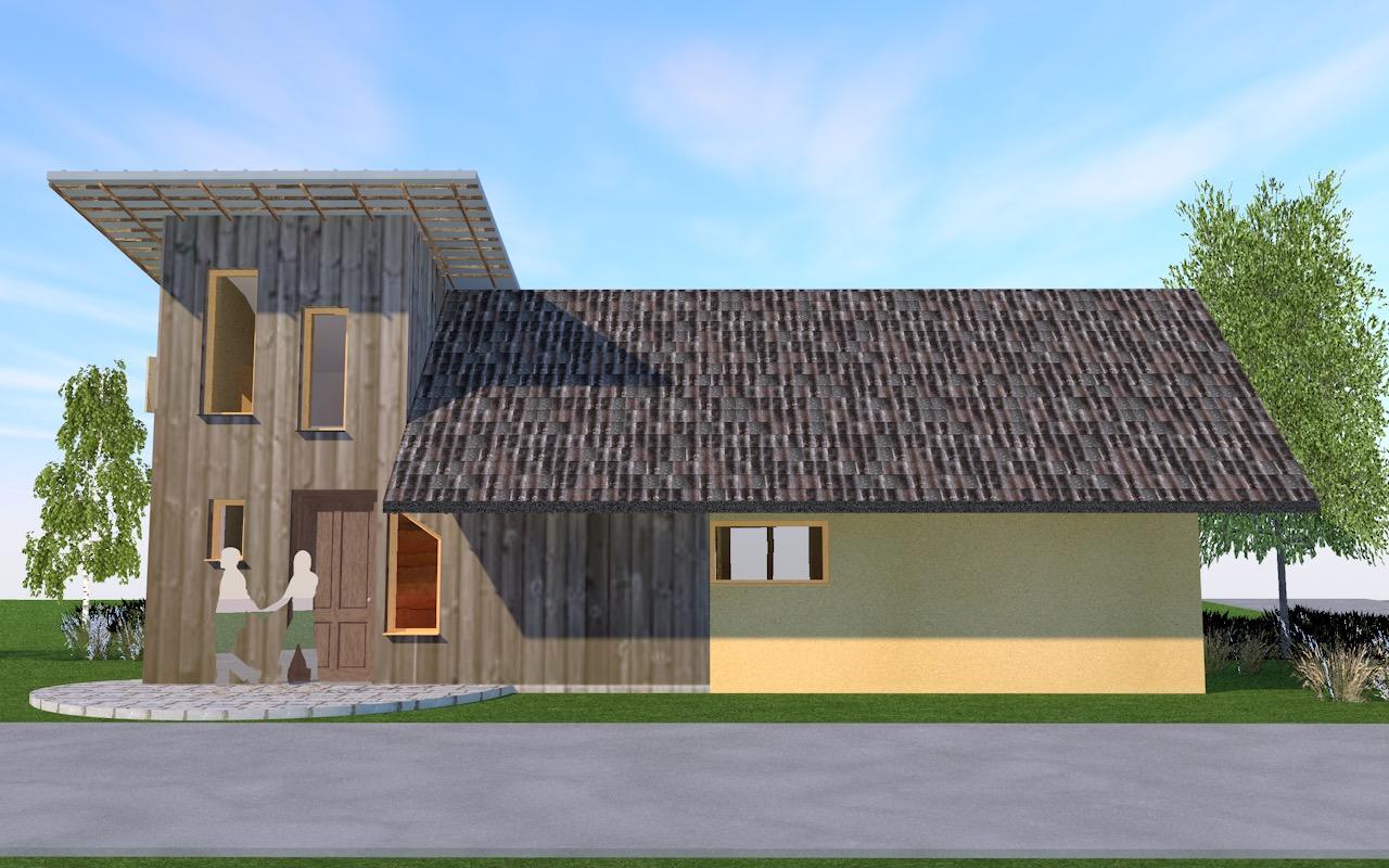 Architect Kleine Woning : Kleine woning langerak bouwen met strobalen