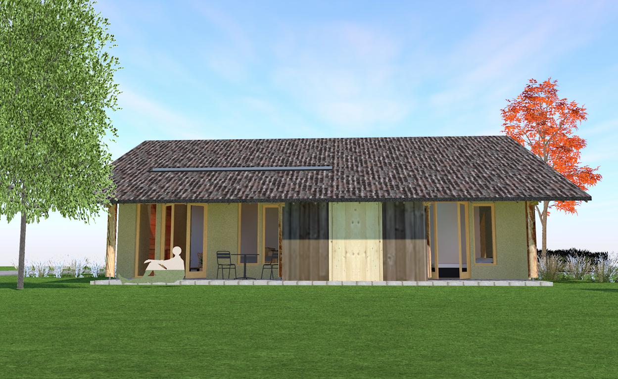 kleine woning langerak bouwen met strobalen