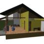 Een nieuw ontwerp voor een herinrichting van een boeren erf. Oude schuren worden ingeruild voor woningen; de rood voor rood regeling. Een strobalen schuurwoning als inpassing voor landelijk wonen in de Achterhoek.