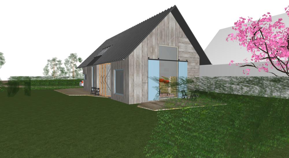 moderne schuurwoning, aelderhooghe, drenthe, stoer, biobased, bouwenmetstrobalen, architectuur, design