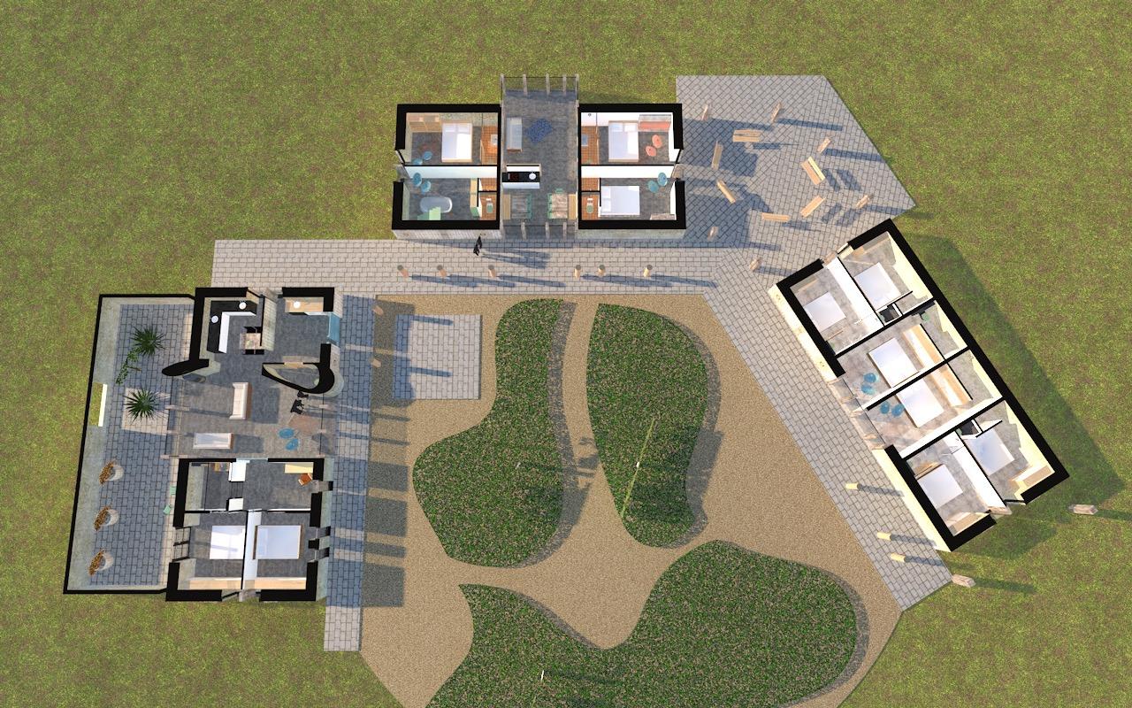 Een ensemble van gebouwen als retraitecentrum bij Amersfoort. In harmonie opgezette nieuw erf dat in het buitengebied bij Amersfoort komt te staan. Het wordt een plek van rust en bezinning, waar natuurlijk materiaalgebruik goed bij aansluit.