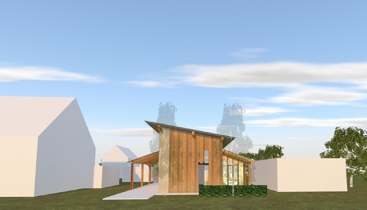 zelfbouw, huis, ecologisch, larikshout, achterhoek, giesen, architectuur, larikshout, stucwerk, klein huis, tiny house plus, kleiner huis, wintertuin, kas, houtskeletbouw, houtbouw, duurzaam, verantwoord